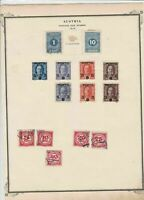 austria postage due stamps  on album page ref r11472