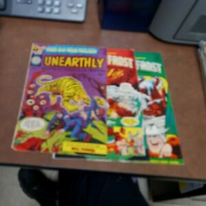 UNEARTHLY SPECTACULARS #1 2 3 harvey comics 1965 series complete set silver age