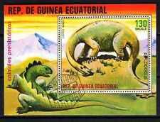 Animaux préhistoriques Guinée Equatoriale (9) bloc oblitéré