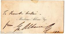 Emma Albani leading Soprano REAL hand SIGNED vintage nameplate card
