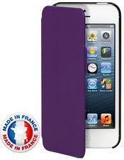 ETUICOXIP5MIFM Etui coque mauve rabat latéral pour iPhone 5 made in france