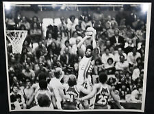 Dr. J Julius Erving ABA Nets Basketball Original Fiber Print Photo (VF) 1970s