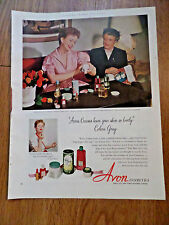1952 Avon Cosmetics Ad Movie Hollywood Star Coleen Gray & Mary Abrams