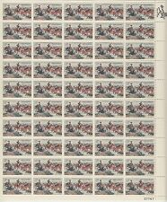 "sheet of 50 C.M. RUSSELL / CHARLES MARION ""JERKED DOWN"" stamps - Scott #1243 MNH"