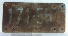 1944 QUEBEC, Canada Fiber Board License Plate (171-551)