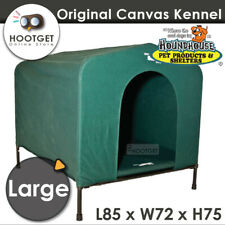 [Large] HoundHouse Waterproof Canvas Dog Kennel Green Hound House Portable Mat