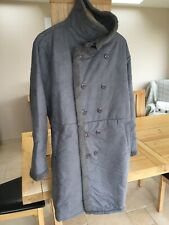 Newchic Mens Faux Leather Suede Lambs Wool Double Breasted Coat 3XL