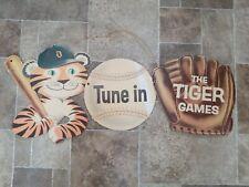 1960s Detroit Tigers Baseball Strohs Beer cardboard advertising sign rare