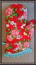 Oven Glove Mit Retro Vintage Style NEW Vintage Red floral