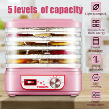 Food Dehydrator Fruit Vegetable Herb Meat Drying Machine 5 Trays 220V Household