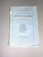 Régionalisme Ain Monographie de l'église Notre Dame de Bourg 1849