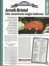 FICHE TECHNIQUE AUTOMOBILE ARNOLT-BRISTOL 1954