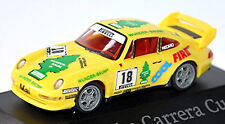 PORSCHE 911 RS Clubsport 993 Carrera Cup 1996 Wunder-Baum #18 o Mayo 1:87 Herpa