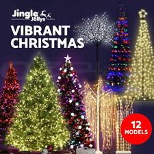 Jingle Jollys Christmas Tree LED Fibre Optic Xmas Decoration Pre Light Outdoor
