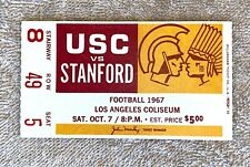 1967 USC vs Stanford Football Ticket: Trojans Win 6th National Championship