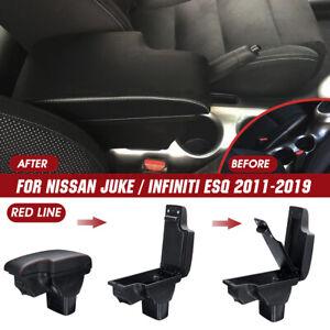 Accoudoir Central Boîte Rangement Storage Ligne Rouge pour Nissan Juke 2010-2015