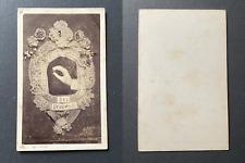 Allégorie, Le mariage, alliance, The proposal, circa 1870 vintage cdv albumen pr