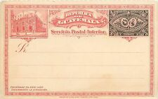 Early Vintage Guatemala Postcard 3 Centavos Red & Black Ink Unused ca. 1901-1907