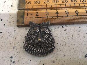 Detailed Vintage Dog Brooch, Vintage Metal Dog Brooch