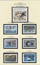 OHIO HUNTING PERMIT STAMPS 1982-1999 CV $374 BS6402