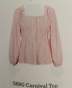 CAbi 2021 Spring Collection, 5890 NWT Size M, Carnival Top
