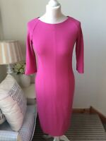 MARCCAIN Pink Round Neck Half Sleeve Bodycon Dress Long Sleeve Size N2 (10)