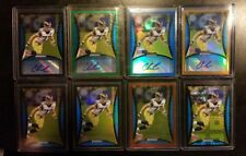 2008 Bowman Chrome Chris Long RC SP Auto Gold, Blue, Green, refractor 8-card lot