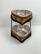 2000 Longaberger Little Love Wrought Iron Stand, Baskets, Liners & Protectors