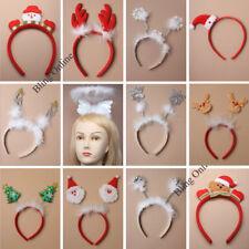 CHRISTMAS HEADBANDS DEELEY BOPPERS SANTA HATS SNOWFLAKES REINDEER ANTLERS XMAS