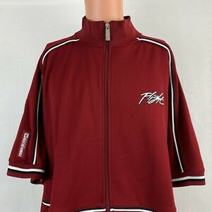 Nike Air Embroidered Flight Embroidered Track Jacket Vtg 2000s  Red Size XL