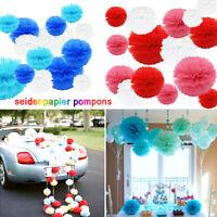 15x tissu mixte papier POM pompons pendaison guirlande décoration fête mariage