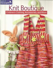 Knit Boutique Children's Clothing Accessories Instruction Patterns Booklet NEW