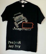 Men's T-Shirt,Jeep,Size S,Black,Short Sleeve,Graphic Tee,Women, Cotton,Gildan