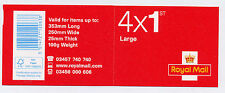 GB 2016 4 x 1st LARGE ROYAL MAIL SECURITY BACKING PAPER BOOKLET RB5 CODE M16L