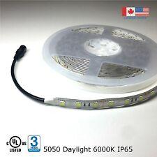 Super Bright LED Strip Light 5050 UL Listed 16Ft 12VDC Daylight 6000K IP65