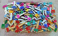 Lot  of  20  Misc  COLOR  COLE  Key Blanks    HOUSE, CAR, etc . UN-CUT.