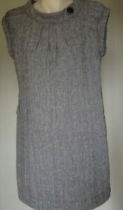 LADIES SHORT SLEEVE DRESS BY CKM BLACK AND GREY SIZE M