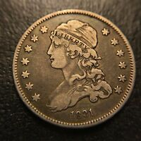 1831 P Capped Bust Quarter Dollar Choice XF Extremely Fine Type Coin 25c