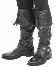 PIRATE BOOT COVERS shoe cover medieval mens womens halloween costume shoes