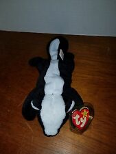 Ty Beanie Stinky the Skunk with P.V.C. Pellets with FACTORY ERROR & More Errors