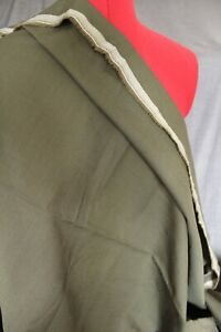 Remnant Poly Viscose Suiting 4.00mtr x 150cm  - Olive Green R455