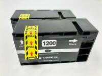 2 Black Ink Cartridge PGI-1200XL for Canon MB-2020 2030 2320 2350 2050 2120 2170