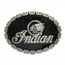 Native American Indian Warrior Chief Pin Belt Buckle Mens Black Background Metal