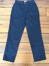 "TravelSmith Poly Cotton Spandex Stretch Womens Black Travel Pants 6P 26"" Waist"