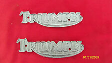 TRIUMPH TSX GAS TANK BADGE EMBLEM SET FOR T140 60-2569 60-7303 60-7210 60-7288