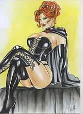 A00868 Sexy Black Queen by Fakeev *NOT A PRINT* original art drawing comics