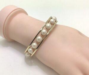 """Ann Taylor Gold Tone Faux Pearl  42020579 Bracelet, 6.5""""/17cm"""
