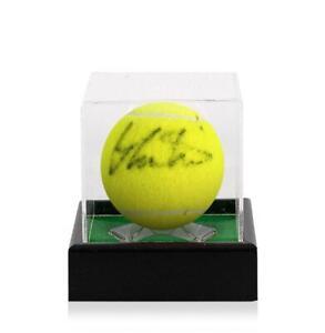 Martina Navratilova Signed Wimbledon Tennis Ball In Acrylic Case Autograph