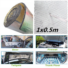 1x0.5M 10mm Car Hood Door Heat Sound Deadener Reducer Insulation Underlay Mat