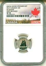 2017 Canada 10c Bluenose From Snow Goose Specimen Set First Release NGC SP70
